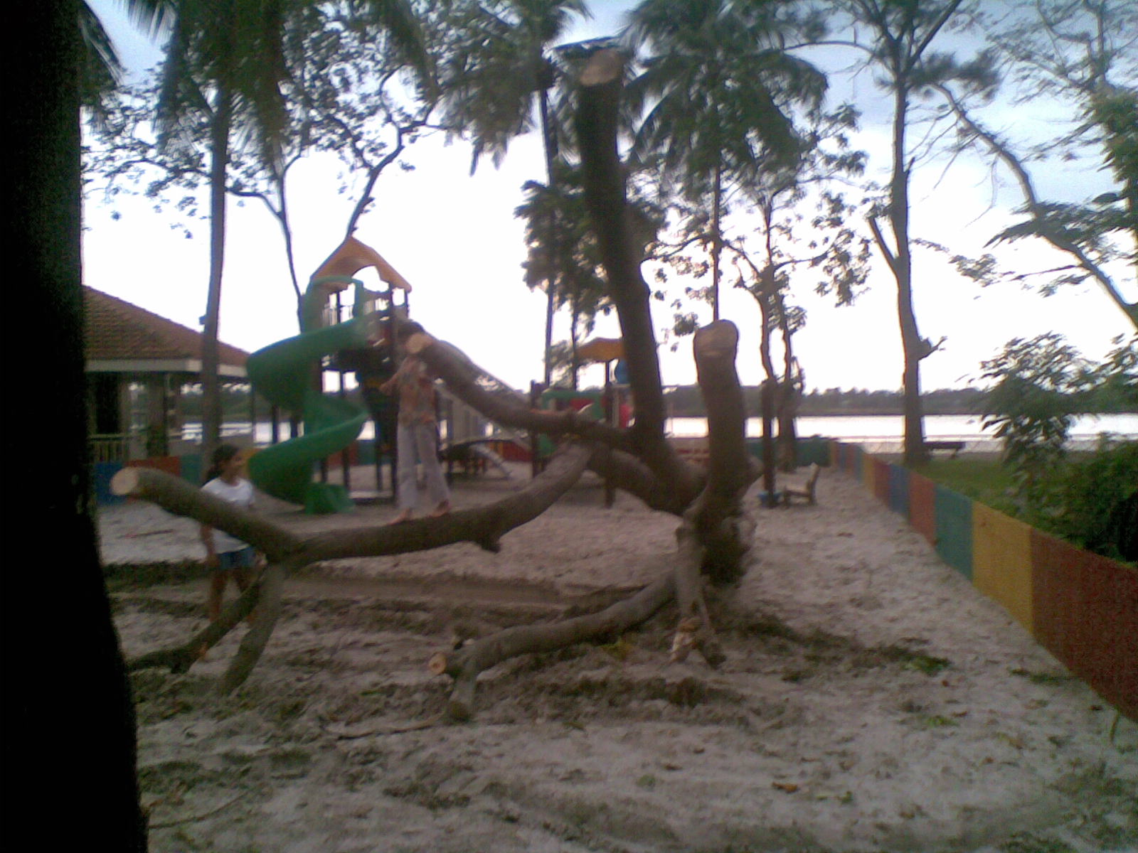 Riverside playground